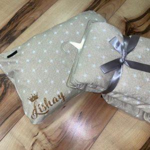 סט – שמיכה כרית  בעיצוב אישי
