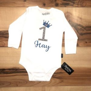 Baby Birthday –  heart and crown